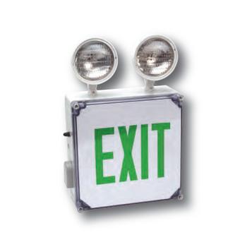 AL ALEX Wet Location LED Exit Sign Combo